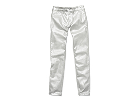 Women Pants/shorts Silver Foil Jean