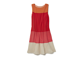 Women Skirts/dresses Pleat Colourblock Dress