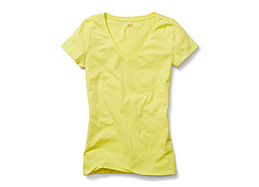 Women Tops Tissue Vneck Tee