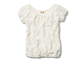 Women Tops Lace Blouson Tee