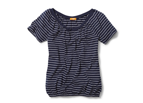 Women Tops Stripe Peasant Tee