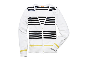 Women Tops Stripe Cardigan