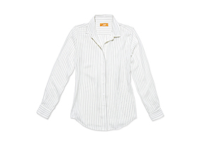 Women Tops Stripe Silk Shirt