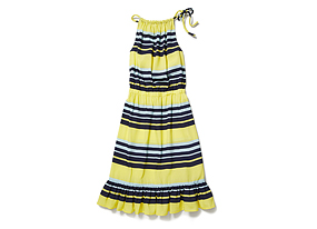 Women Skirts/dresses Stripe Ruffle Dress