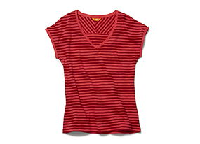 Women Tops Stripe Slub Tee
