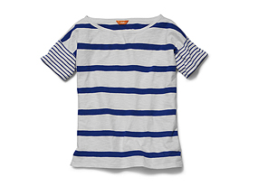 Women Tops Double Stripe Tee
