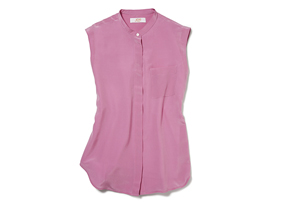 Women Tops Sleeveless Silk Shirt