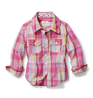Kids Toddler Girl Plaid Shirt Low-res