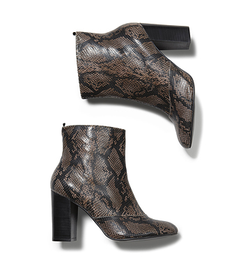 Women Shoes Snake Print Ankle Boot Low-res