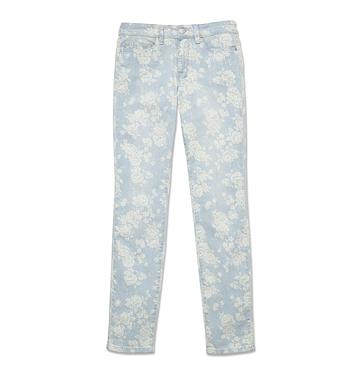 Femmes Pantalons Et Shorts Jean À ImprimÉ Floral Low-res