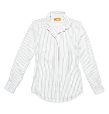 Women Tops Stripe Silk Shirt Low-res