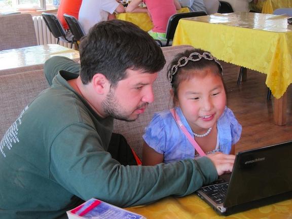 teaching child image