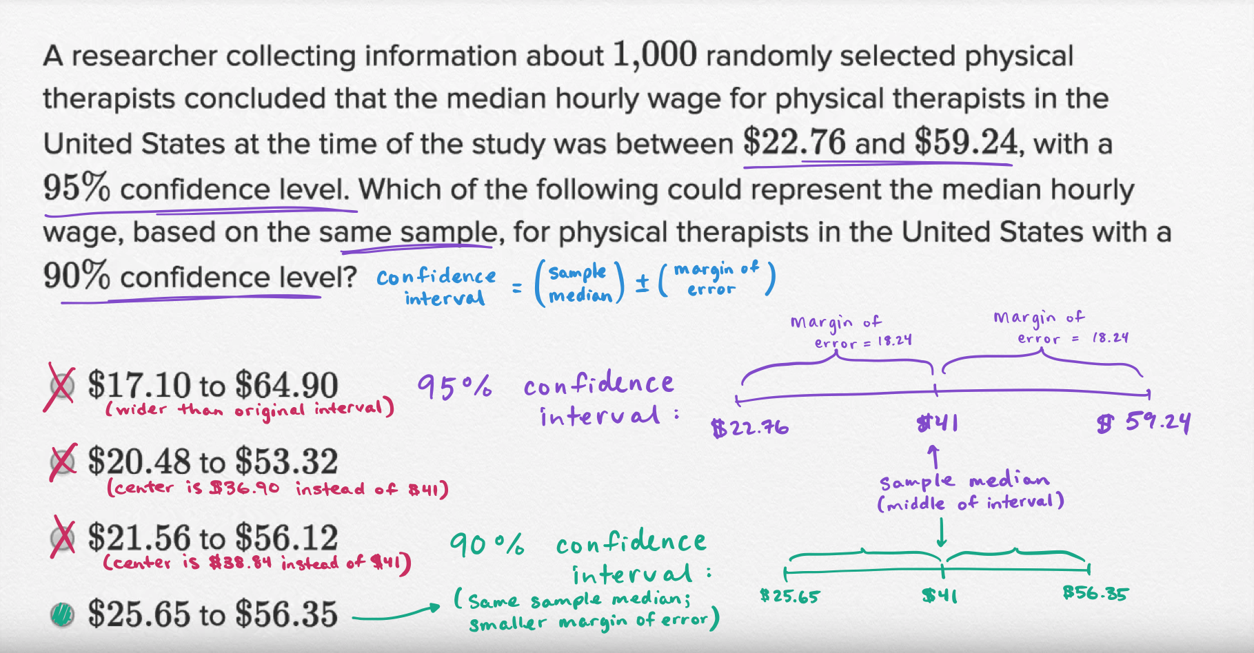 Data collection and conclusions — Basic example (video) | Khan Academy