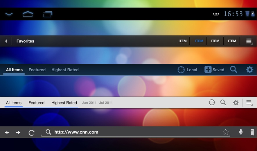 Axure RP Widget LIbraries for iPhone, iPad, Android, Web,