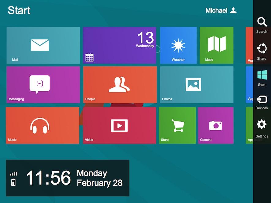 Windows 8 UI Kit for Visio OmniGraffle Fireworks Illustrator