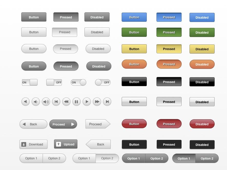 Web SaaS UI Kit for Visio OmniGraffle Fireworks Illustrator
