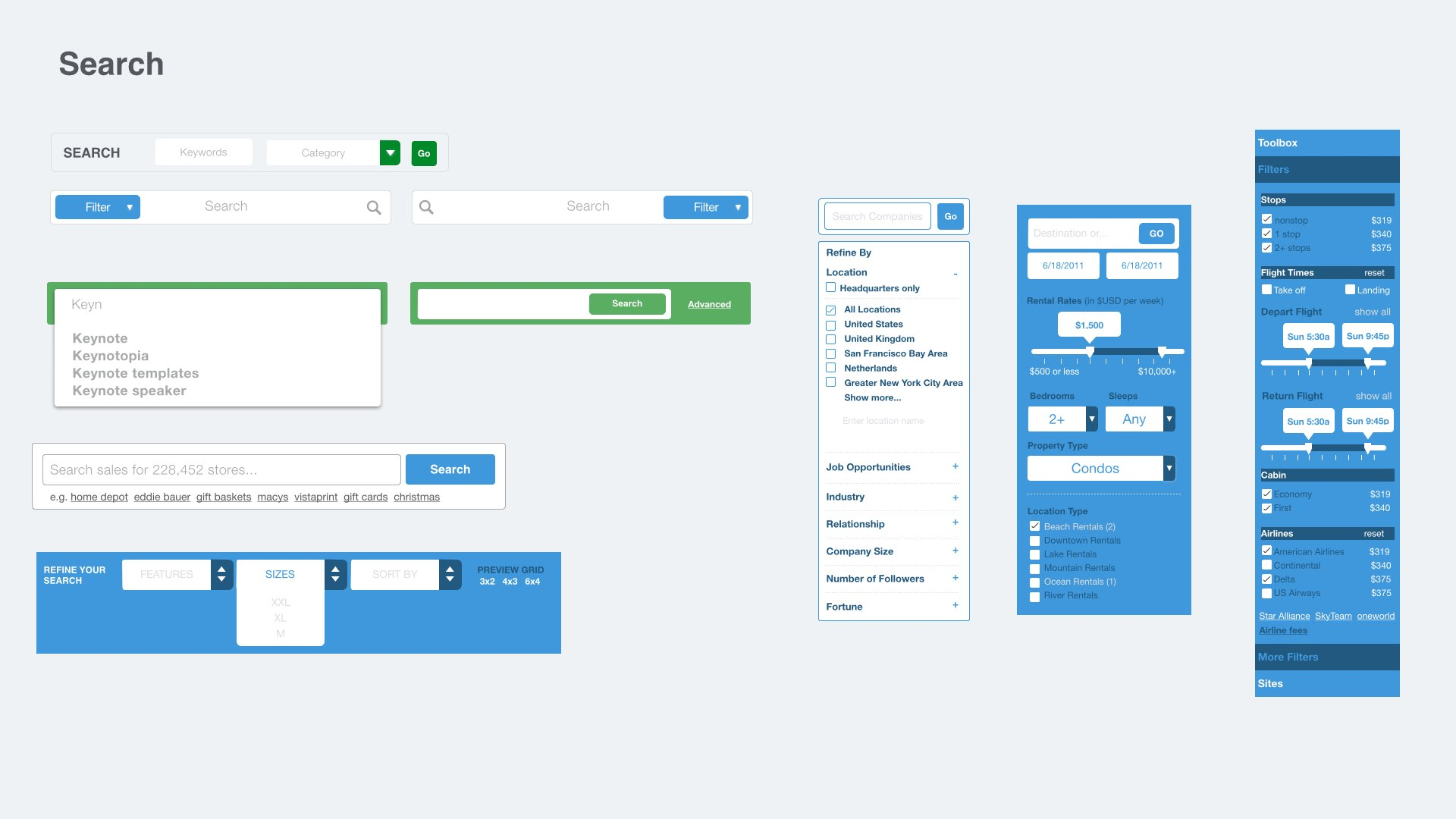 Free App Website web app prototyping kit for keynote and powerpoint [free