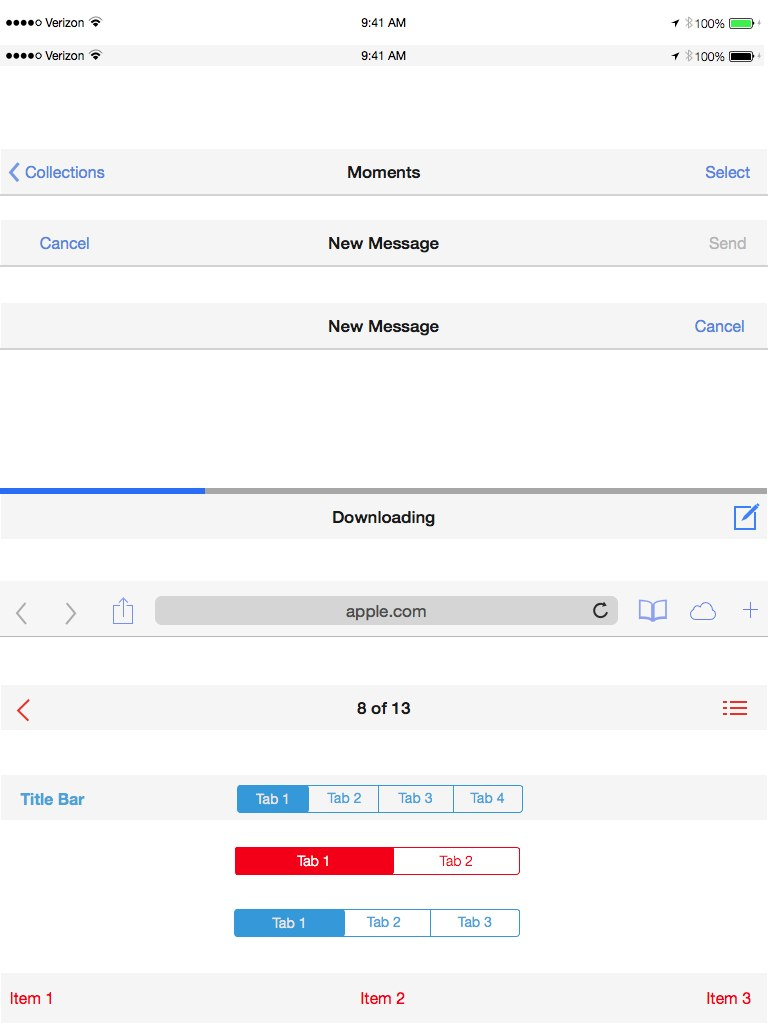 iOS 7 UI Design templates for Keynote and PowerPoint | Keynotopia