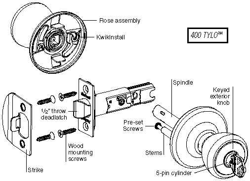door lock schematic diagram