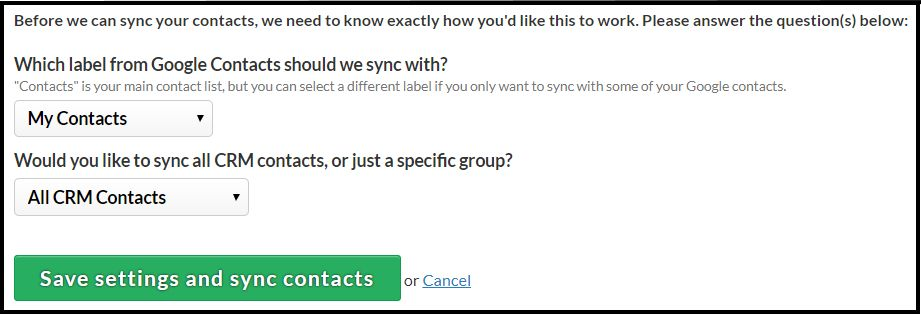 How do I sync with Google Contacts?