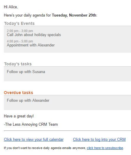 Using Tasks and Events to Collaborate in the CRM