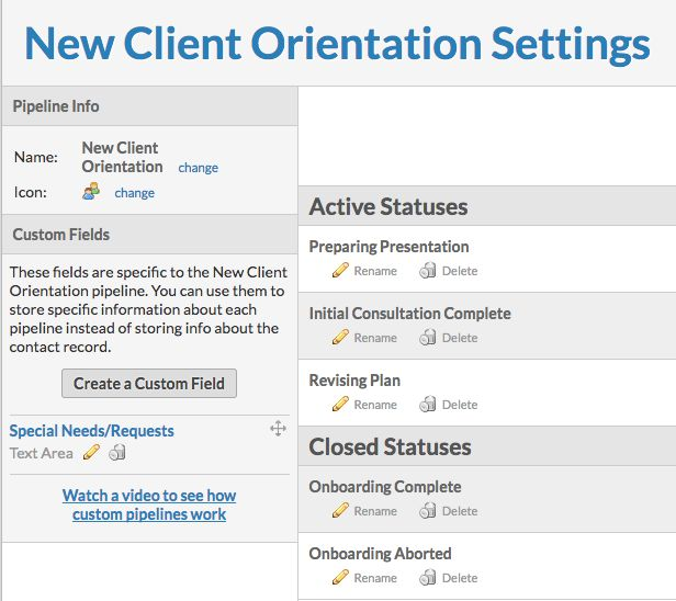 Using Pipeline Templates New Client Orientation