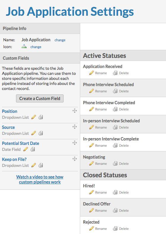 using pipeline templates job application