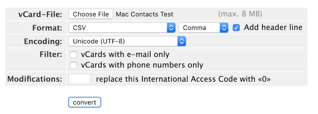 How can I transfer my Mac Contacts to Less Annoying CRM?