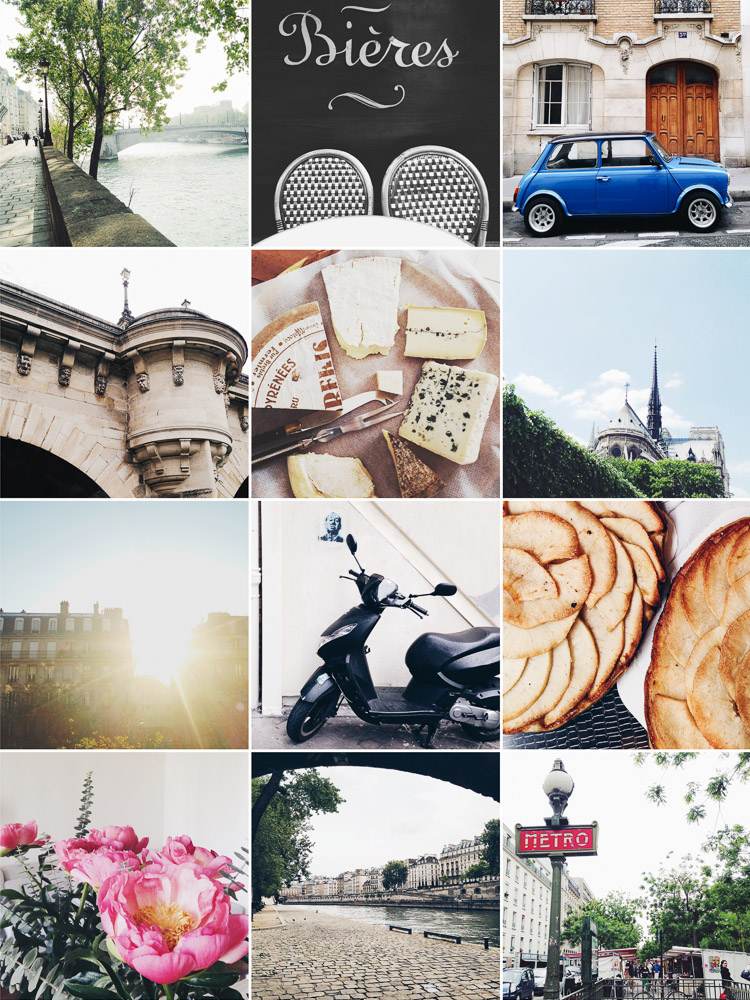 Instagram and Paris in May and June 2014