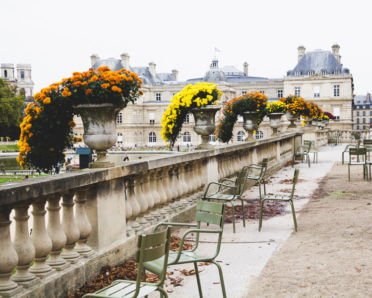 Autumn in Paris Luxembourg Gardens