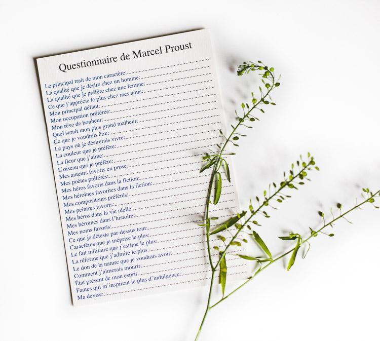 Marcel Proust Questionnaire