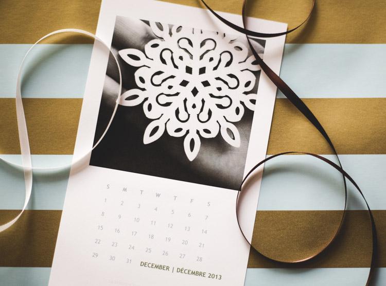 free printable calendar for December 2013