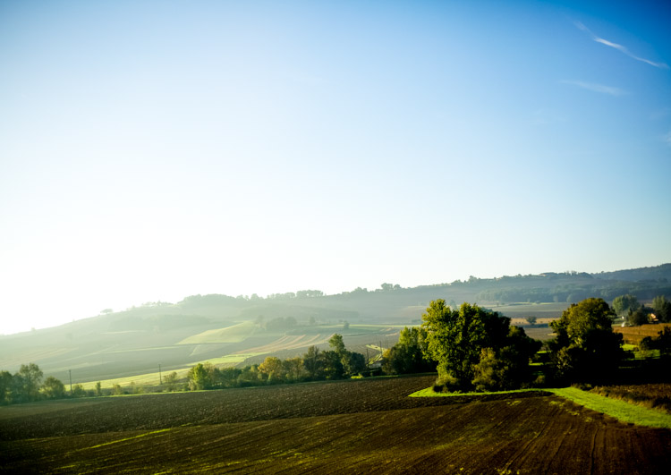 French countryside at sunrise