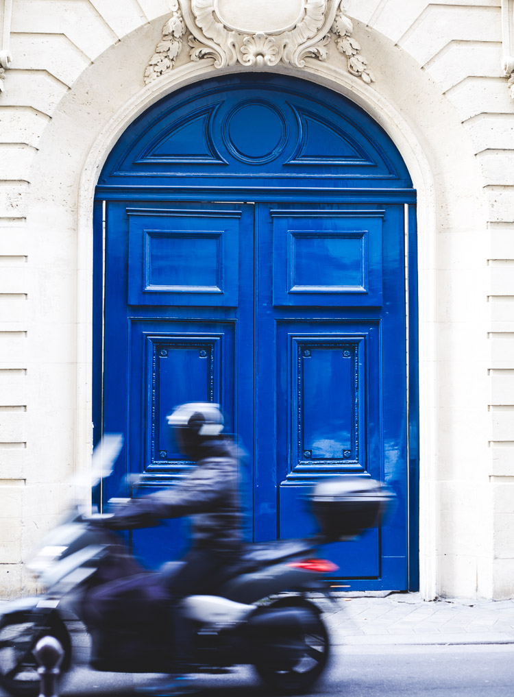 Paris architecture blue door