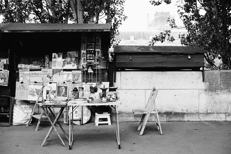 Paris kiosk on the Seine