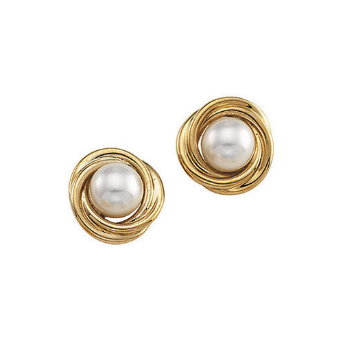 Picture of Lux Yellow Gold Earrings for Women
