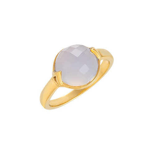 Picture of Lux Yellow Gold Plated Silver Ring for Women