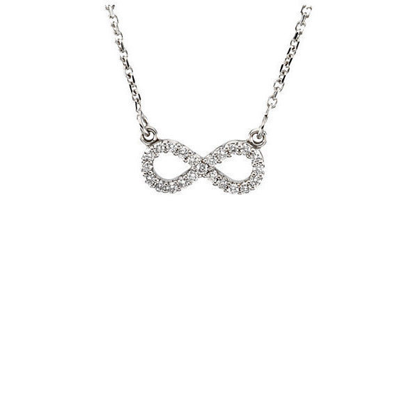 infinity necklace white gold. infinity necklace white gold