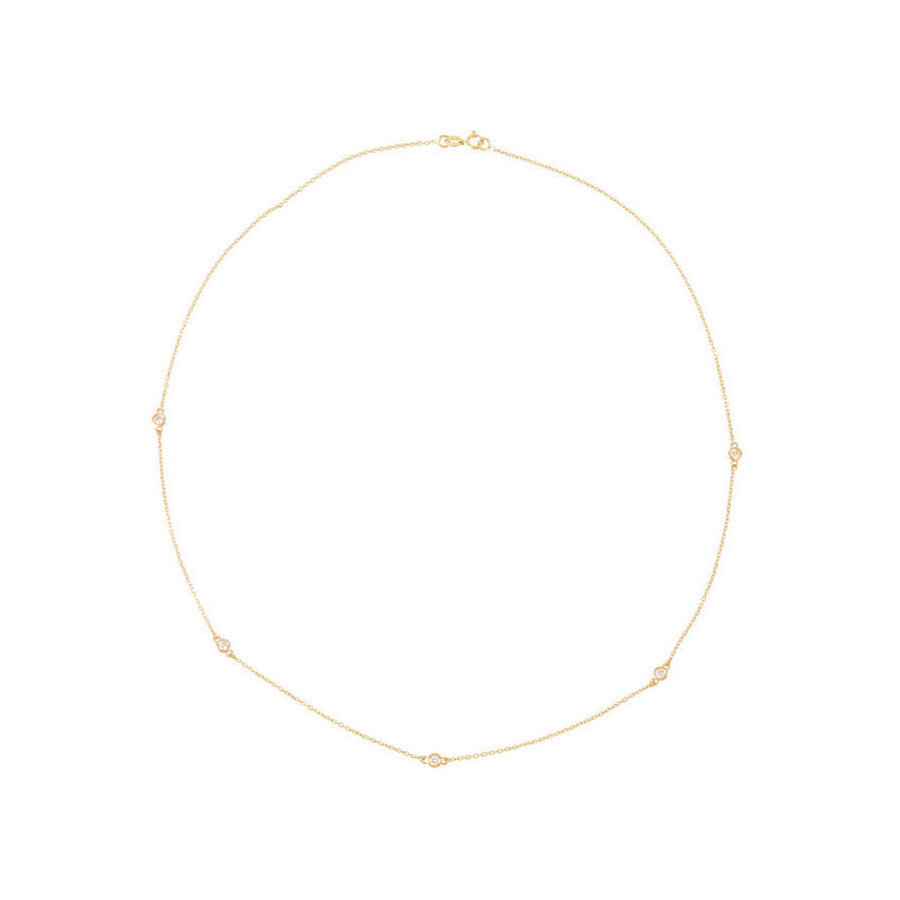Picture of Lux Yellow Gold Necklace for Women
