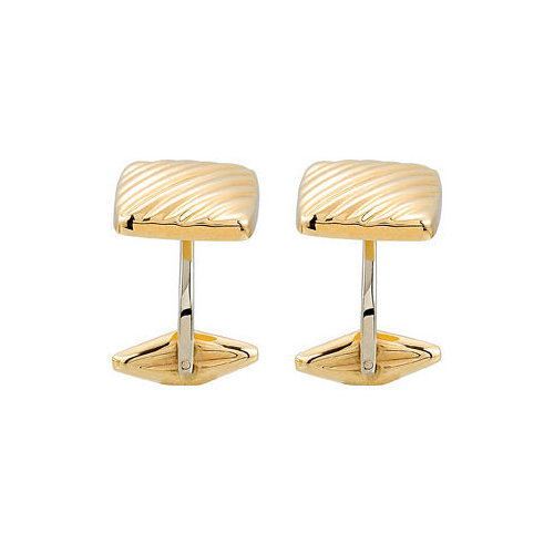 Picture of Lux Yellow Gold Cufflink for Men