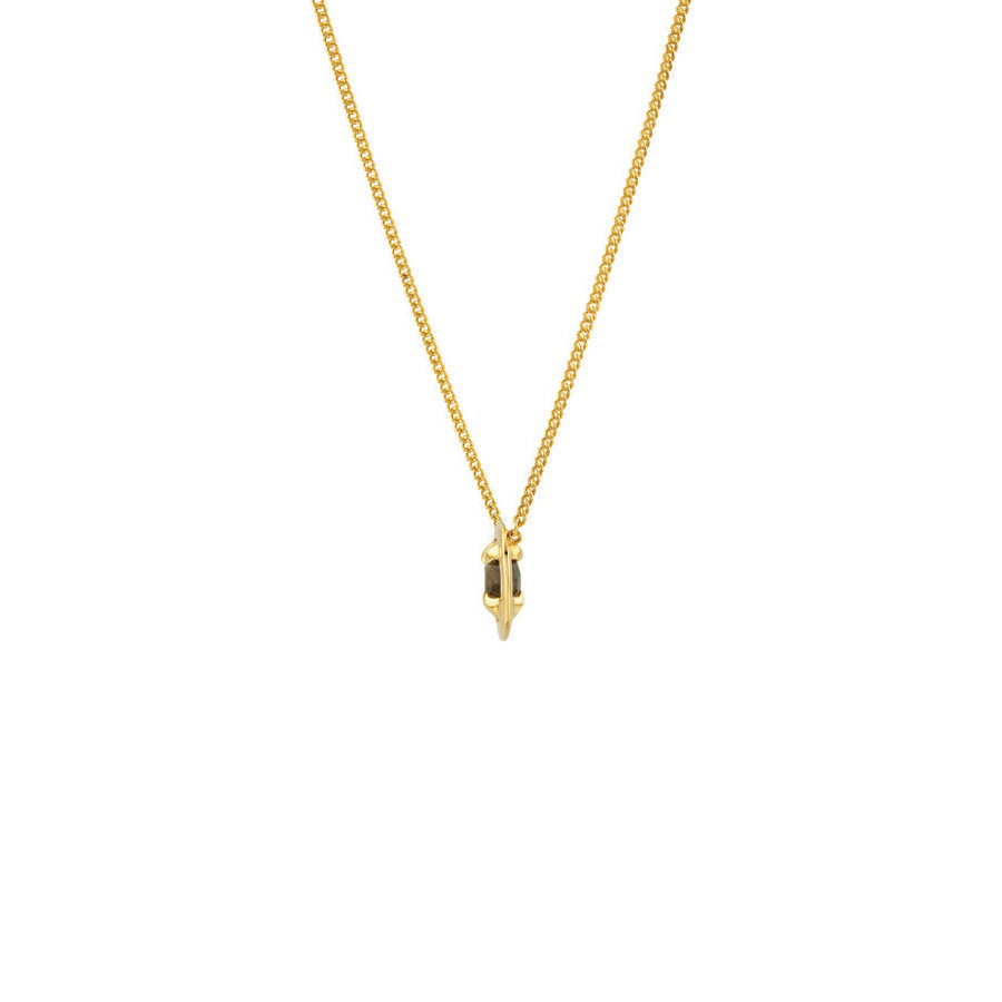 Picture of Lux Yellow Gold Plated Silver Necklace for Women