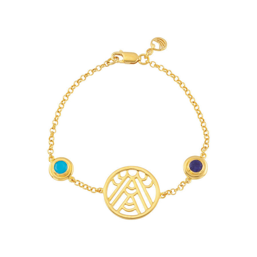 Picture of Lux Yellow Gold Plated Silver Bracelet for Women