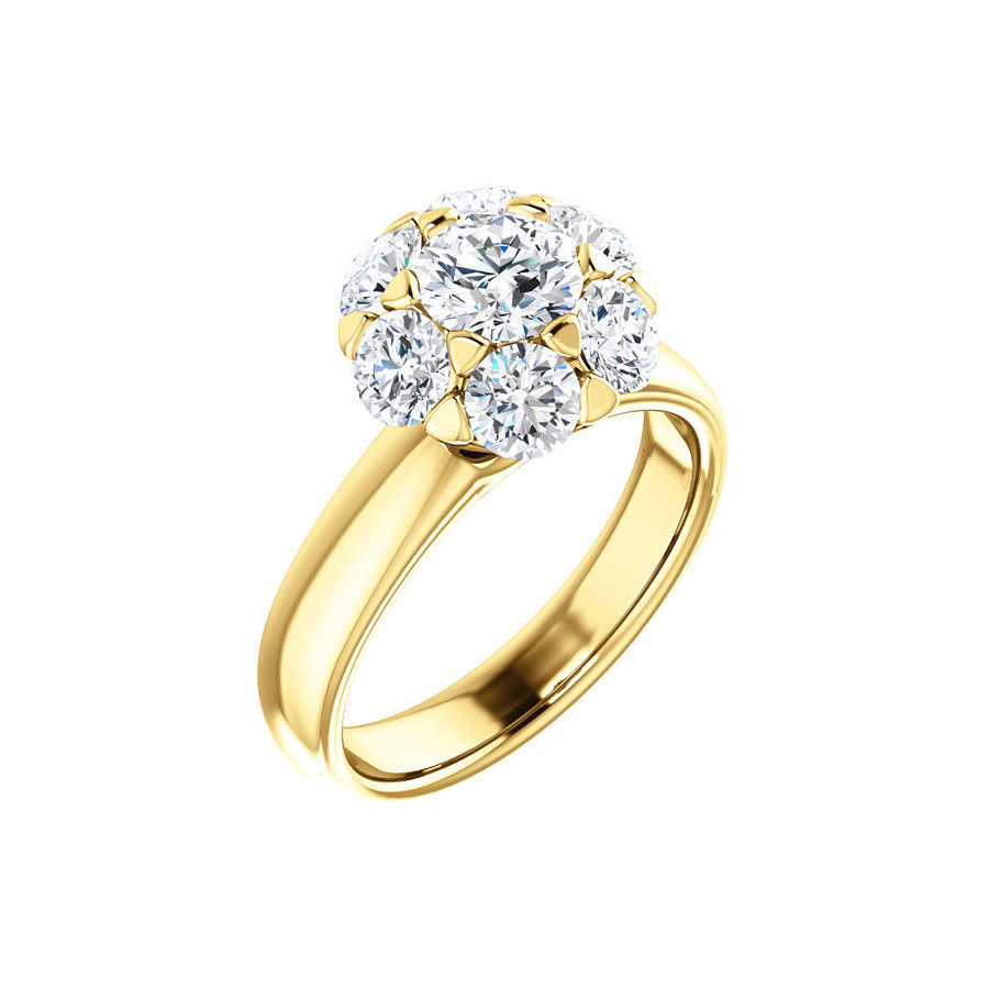 Picture of Lux Yellow Gold Ring for Women