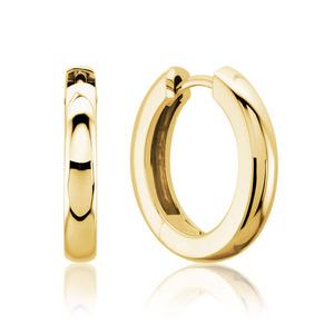 Lux 14k Yellow Gold 3MM Hinged Hoop Earrings