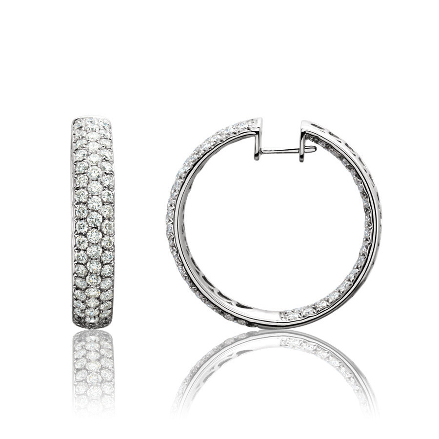 Picture of Lux White Gold Earrings for Women
