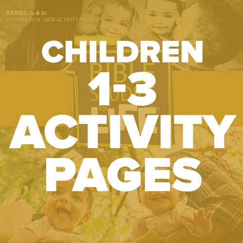 Children 1-3 Activity Pages