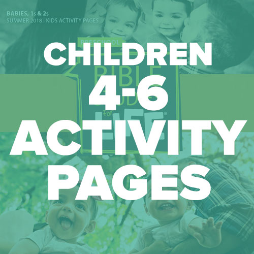 Children 4-6 Activity Pages