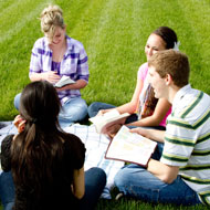 Bible Study Group in field