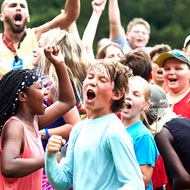 Kids showing joy at a Camp