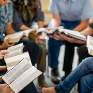 Sunday School Group studying in a Circle